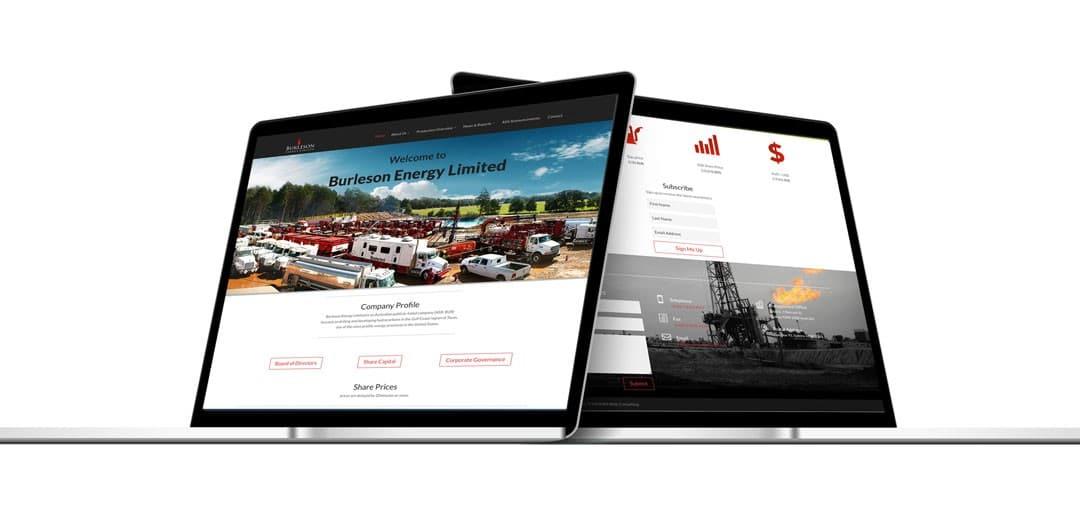 New website for Burleson Energy LTD Live