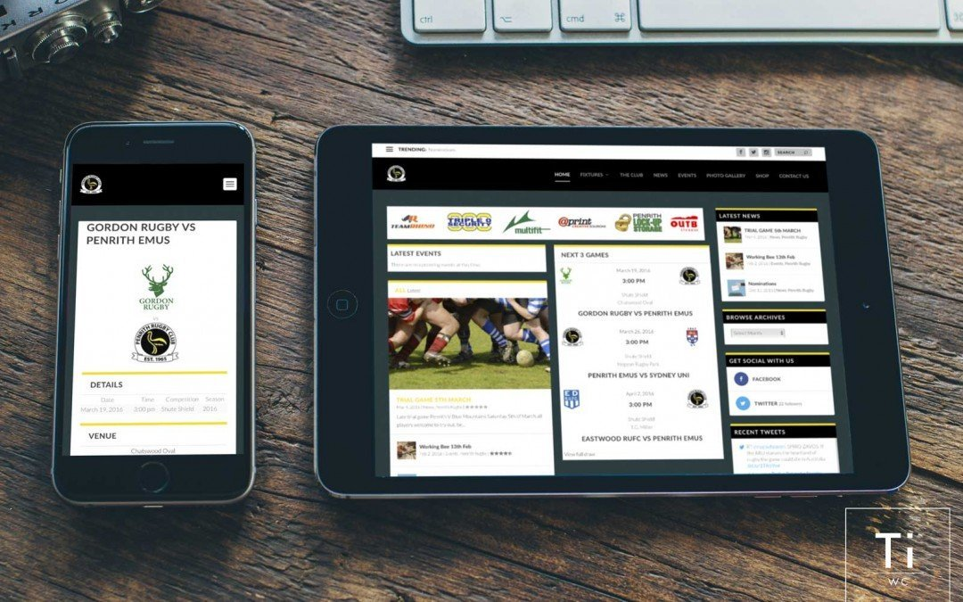 Penrith Rugby Site Re-Launch